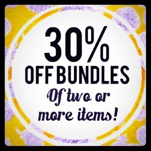 Bundle of 2 30% off